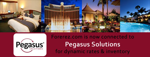 Forerez.com now connected with 1,07,000 Hotels through Pegasus Switch